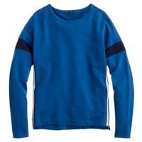Side-zip sweatshirt