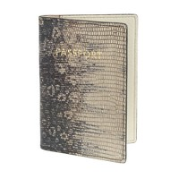 Embossed leather passport case