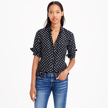 Voile shirt in polka dot