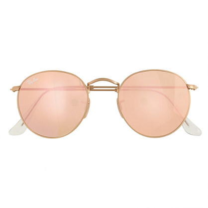 Ray-Ban® retro round sunglasses with flash lenses