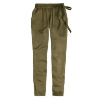 Collection satin side-tie pant