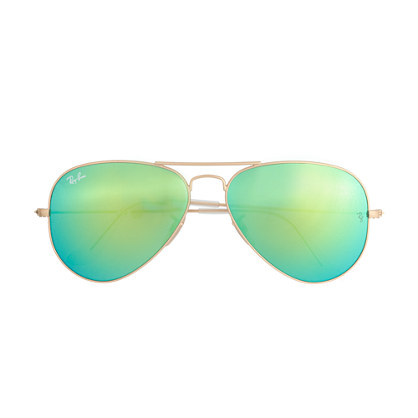 Ray-Ban® aviator sunglasses with polarized mirror lenses