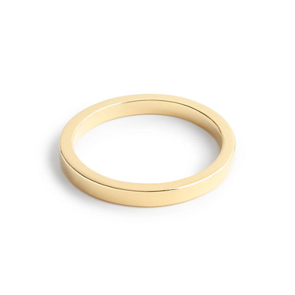 14k gold 2mm flat band