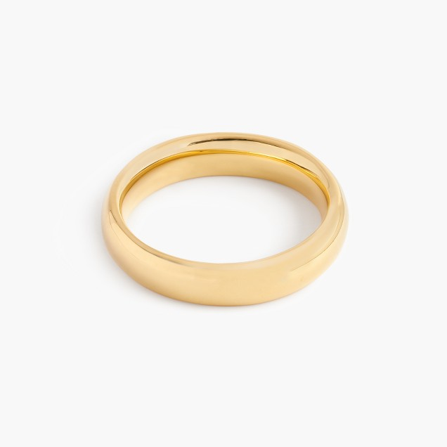 14k gold 4mm rounded band