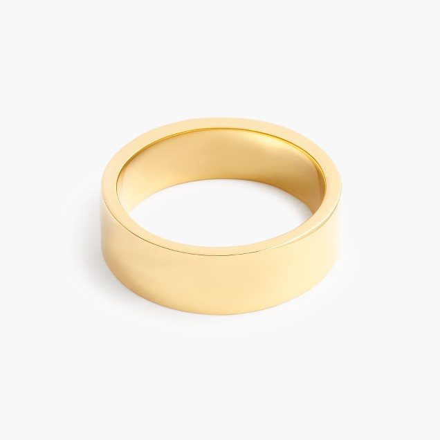 14k gold 6mm flat band
