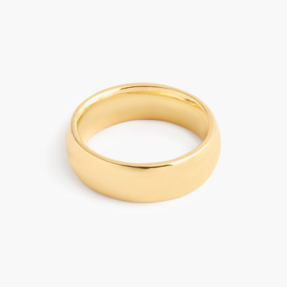 14k gold 6mm rounded band