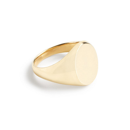 14k gold signet pinky ring