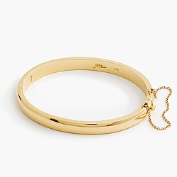 14k gold half-round hinged bangle