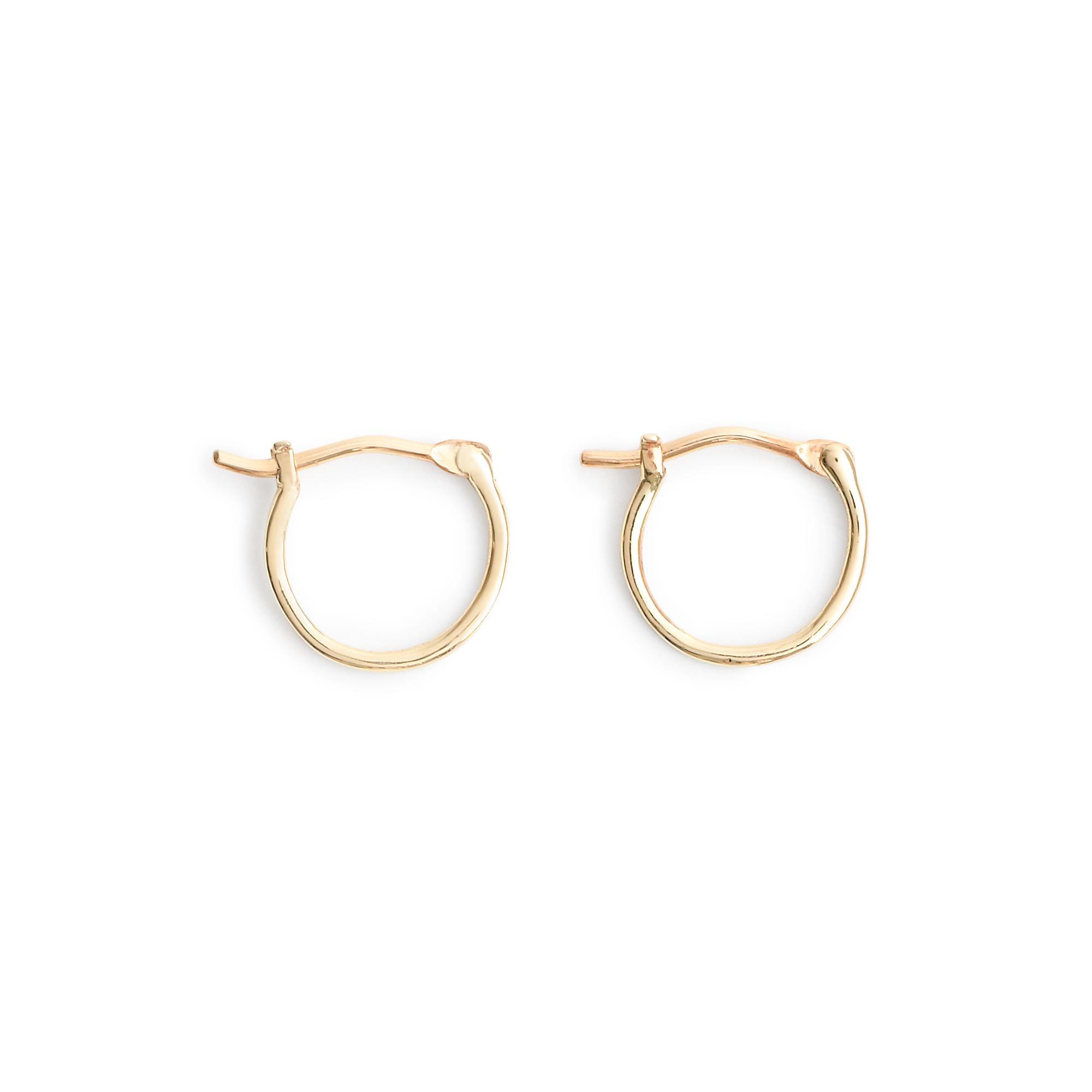 Original 18K Yellow Gold Filled Women Jewelry Small Hoop Earrings 067 | EBay