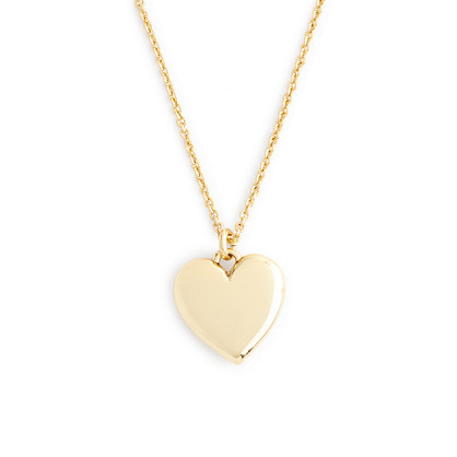 "14k gold heart charm necklace with 16"" chain"