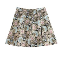 Collection gilded floral jacquard skirt