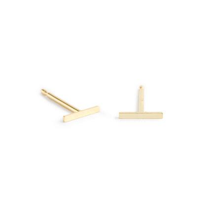 Brvtvs™ 14k gold small bar earrings