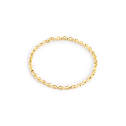 Brvtvs™ 14k gold chain link ring