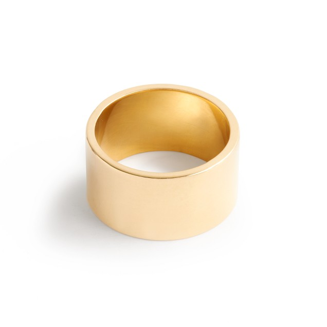 Brvtvs™ thick 14k gold ring