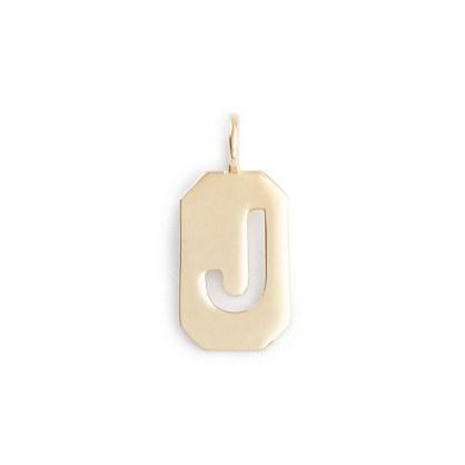 Jennifer Fisher® for J.Crew 10k gold octagon letter tag