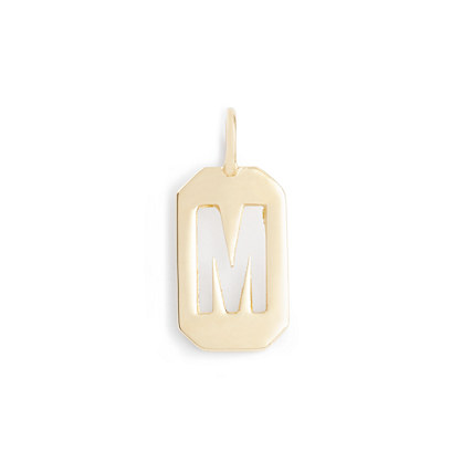 Jennifer Fisher® for J.Crew 10k gold octagon letter tag