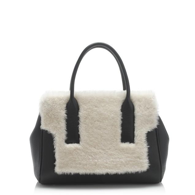 Shearling satchel
