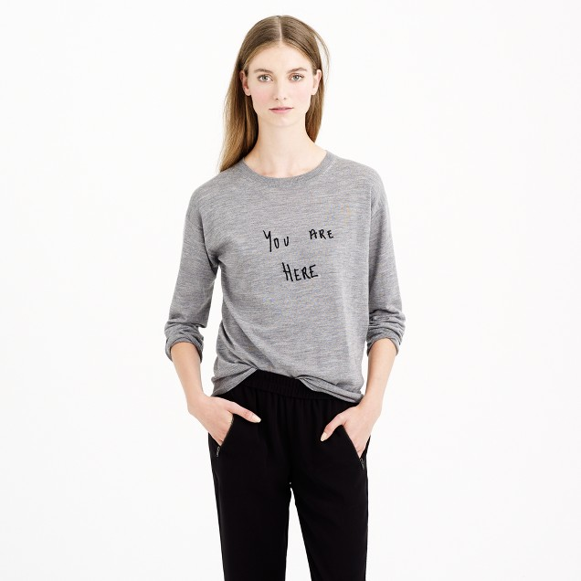 Hugo Guinness™ for J.Crew you are here sweater