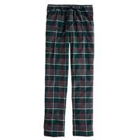Flannel pajama pant in warm spruce plaid