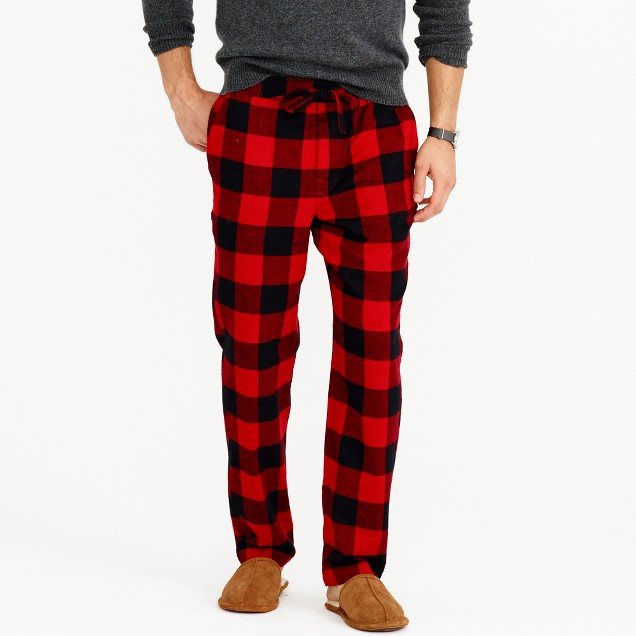 Flannel pajama pant in buffalo check