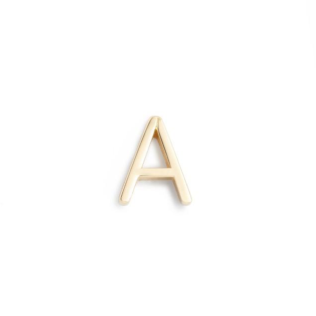 Maya Brenner® 14k gold letter earring