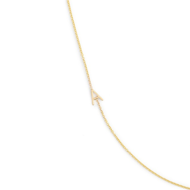 Maya Brenner® 14k gold asymmetrical letter necklace