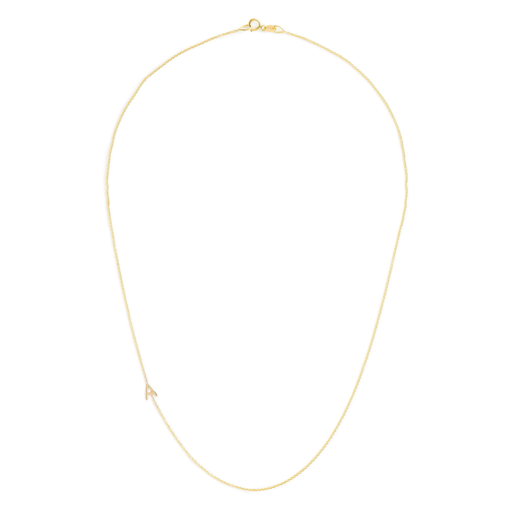 maya brenner 14k gold asymmetrical letter necklace