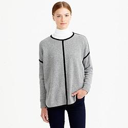 Lambswool tipped sweater-tunic