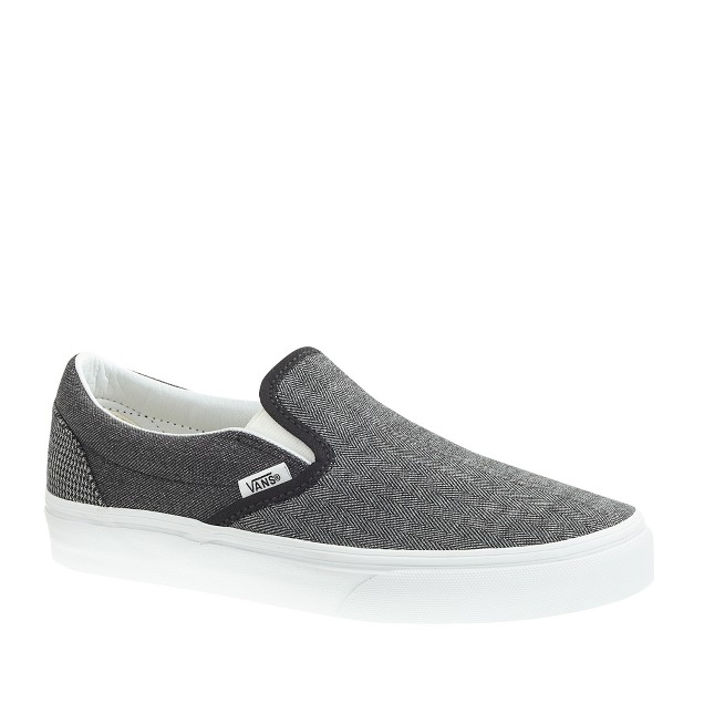 Unisex Vans® for J.Crew classic slip-on shoes in suiting mix