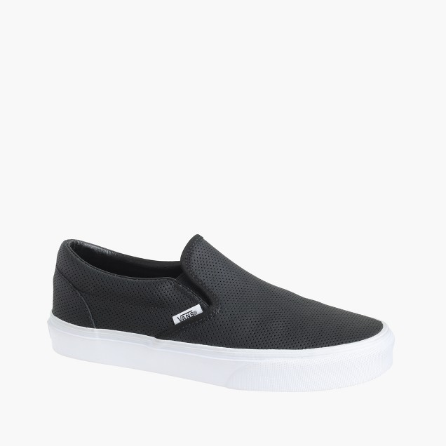 Vans® classic slip-on sneakers in perforated leather