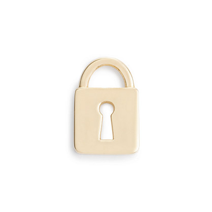 Jennifer Fisher® for J.Crew 10k gold mini-lock charm