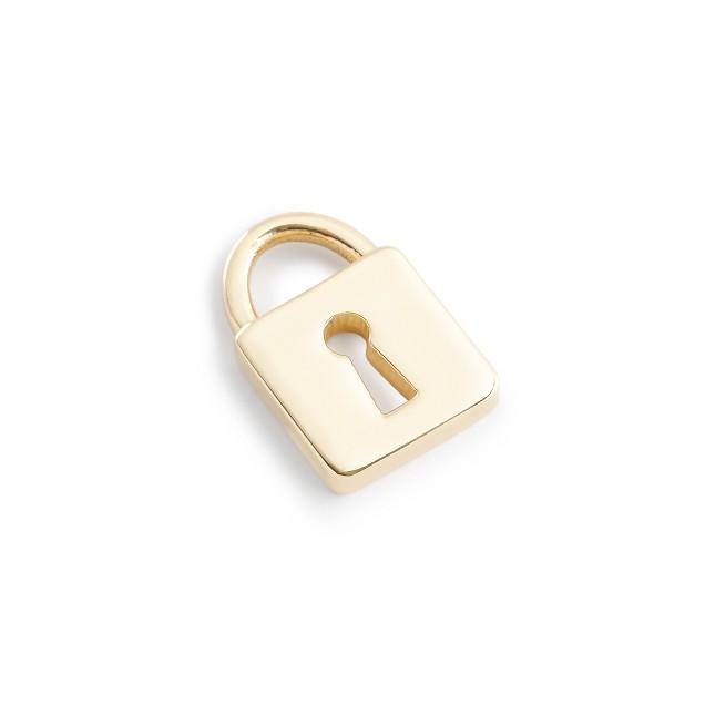 Jennifer Fisher® for J.Crew 10k gold mini-lock charm
