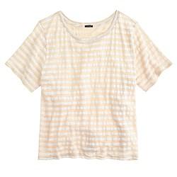 Linen swingy stripe T-shirt