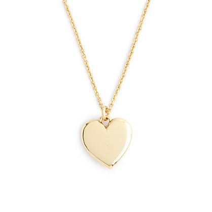 "14k gold heart charm necklace with 18 1/2"" chain"
