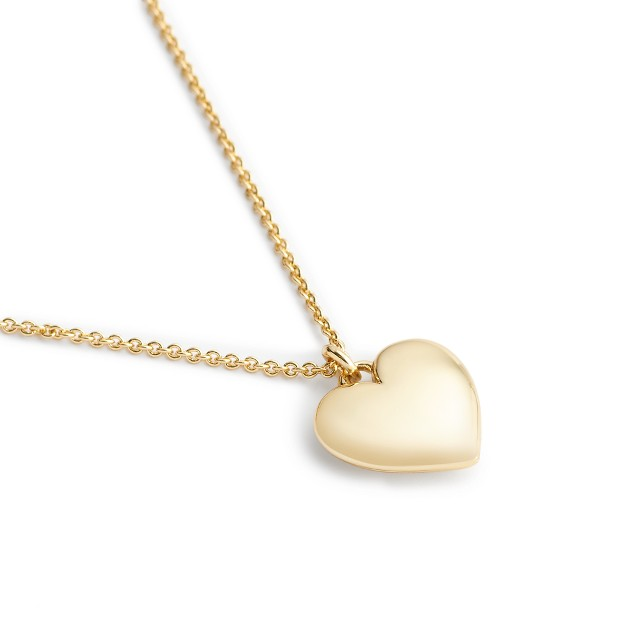 """14k gold heart charm necklace with 18 1/2"""" chain"""
