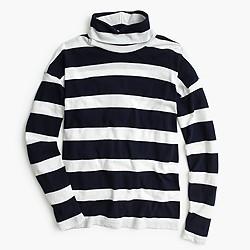 Oversized striped turtleneck