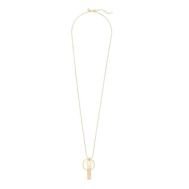 Mixed gold charm necklace