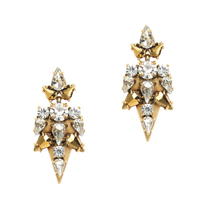 Stacked crystal points earrings