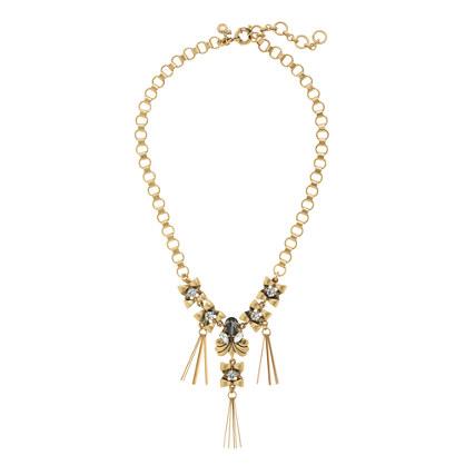 Deco crystal pins necklace