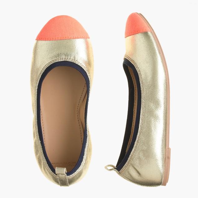 Girls' Mila cap toe ballet flats