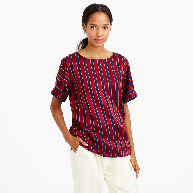 Collection silk stripe blouse