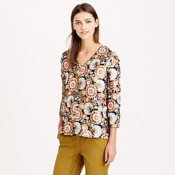 Collection gilded floral jacquard top