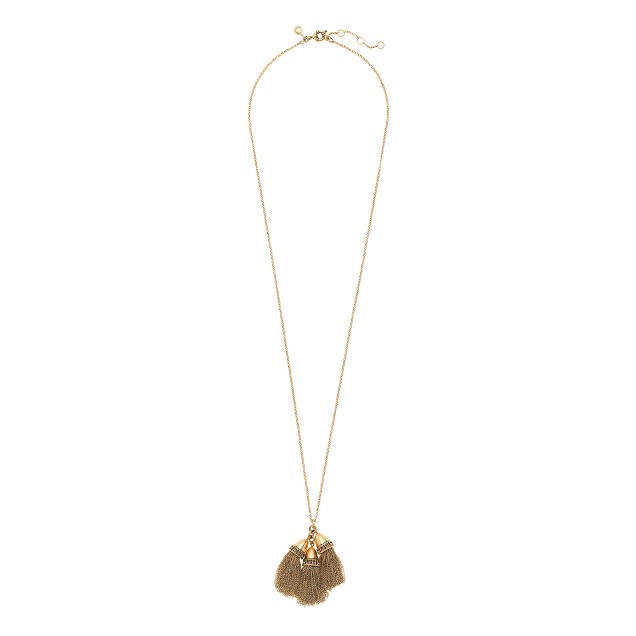 Triple tassel pendant necklace