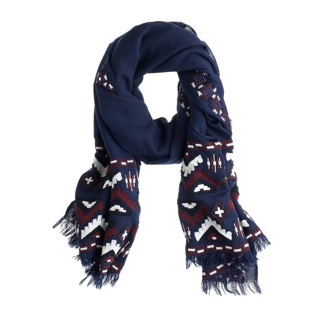 Geo zigzag scarf