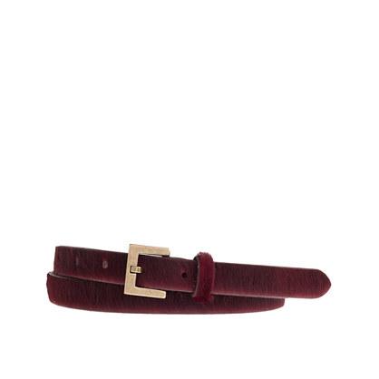 Calf hair belt