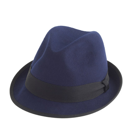 Classic fedora with grosgrain ribbon