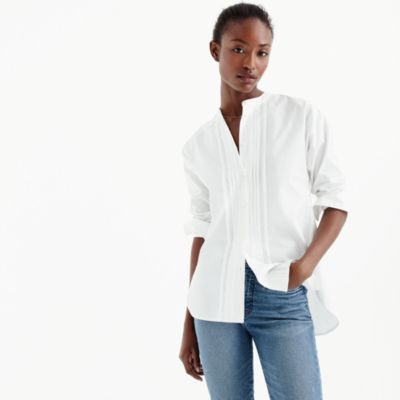 Thomas Mason For J.Crew Collarless Tuxedo Shirt : Women's Shirts ...