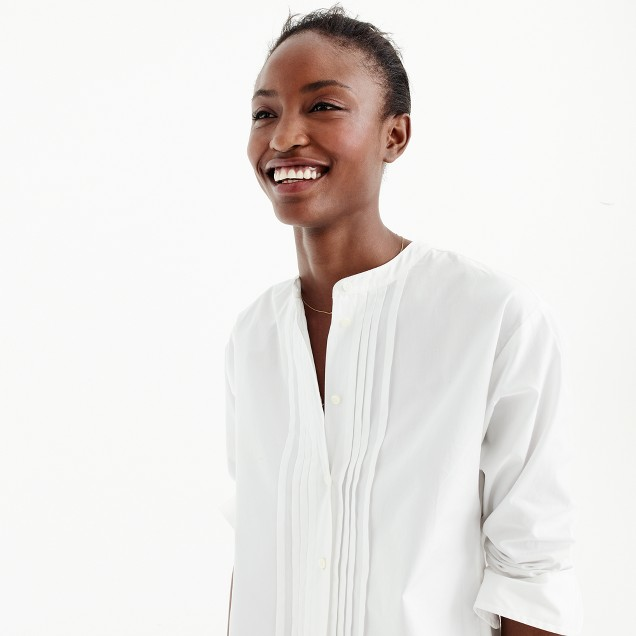 Thomas Mason® for J.Crew collarless tuxedo shirt