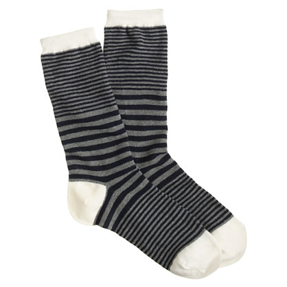 Mixed-stripe trouser socks