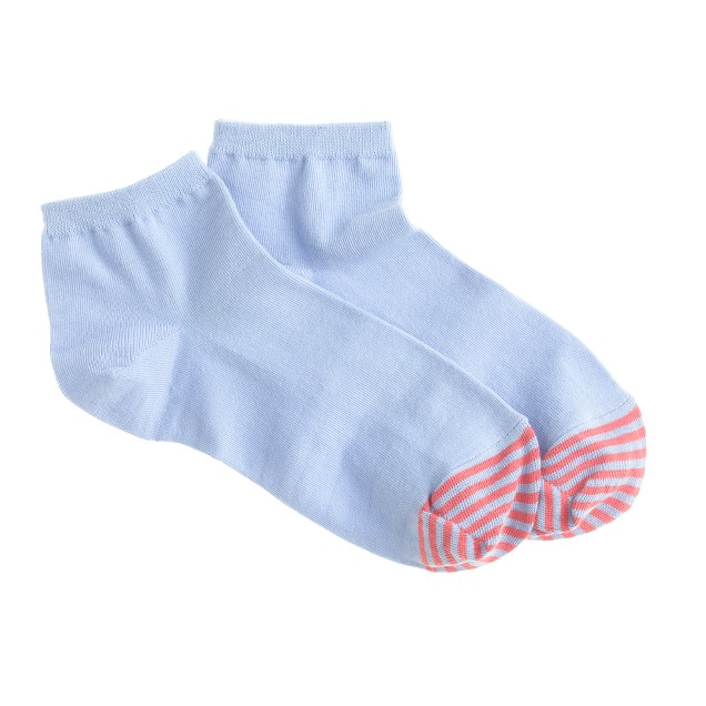 Stripe-toe ankle socks